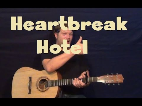 Heartbreak Hotel (Elvis Presley) Easy Strum Guitar Lesson How to Play Tutorial