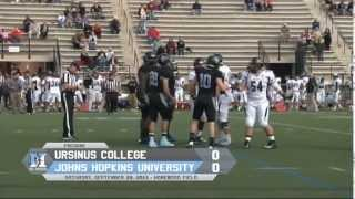 JHU Football vs Ursinus Highlights : Hopkins Defeats Ursinus, 24-18