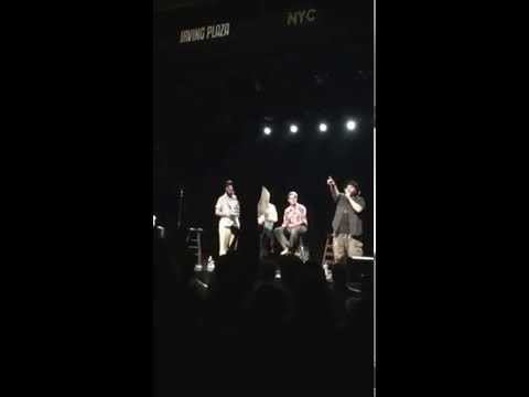 Donut tossing at Doug Loves Movies taping at Irving Plaza June 9, 2015