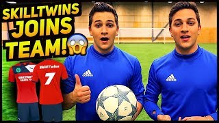 SkillTwins JOINS Crazy Football TEAM! ★ (Futsal/Freestyle/Football Skills)