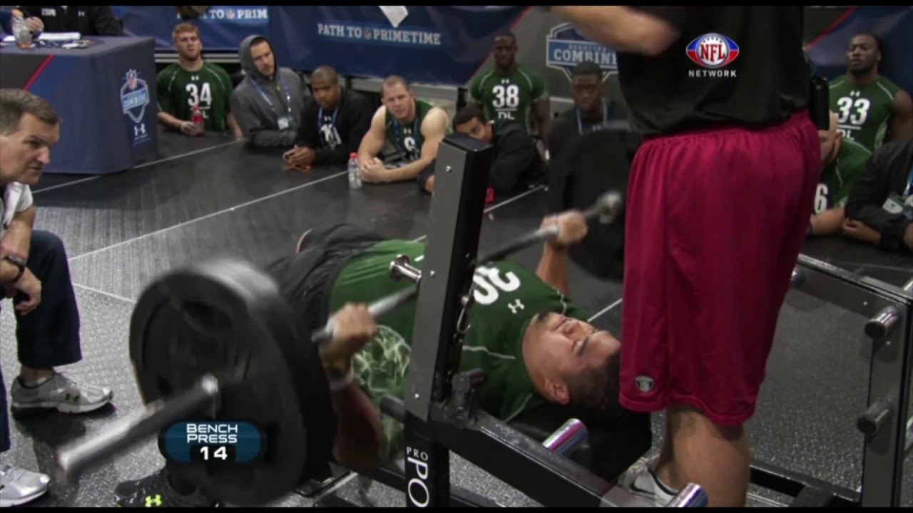 Record Bench Part - 26: Stephen Paea Breaks Bench Press Record With 49 Reps! | 2011 NFL Combine -  YouTube