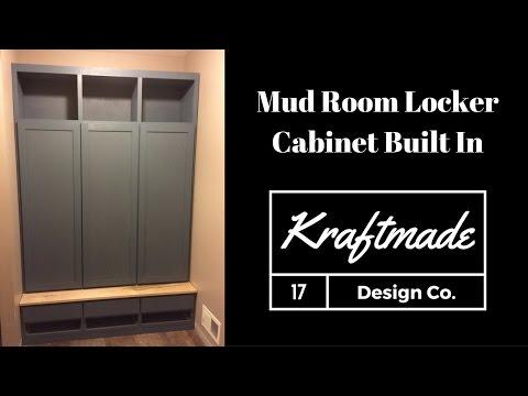 Building a Mud Room Locker Cabinet Built In - Kraftmade