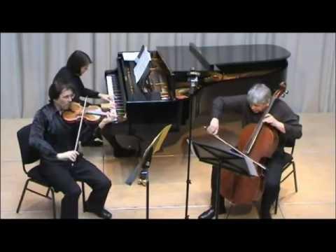 Amael Piano Trio Live in London: Johannes Brahms Trio in C minor op  101