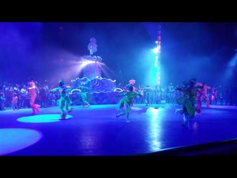 Dancing at Seaworld Orlando Electric Ocean Light Festival Event Show Florida POV