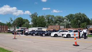 Officer Langsdorf Being Escorted to Funeral Home