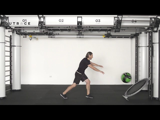 Ball Trampoline Push Up & Cross Throw