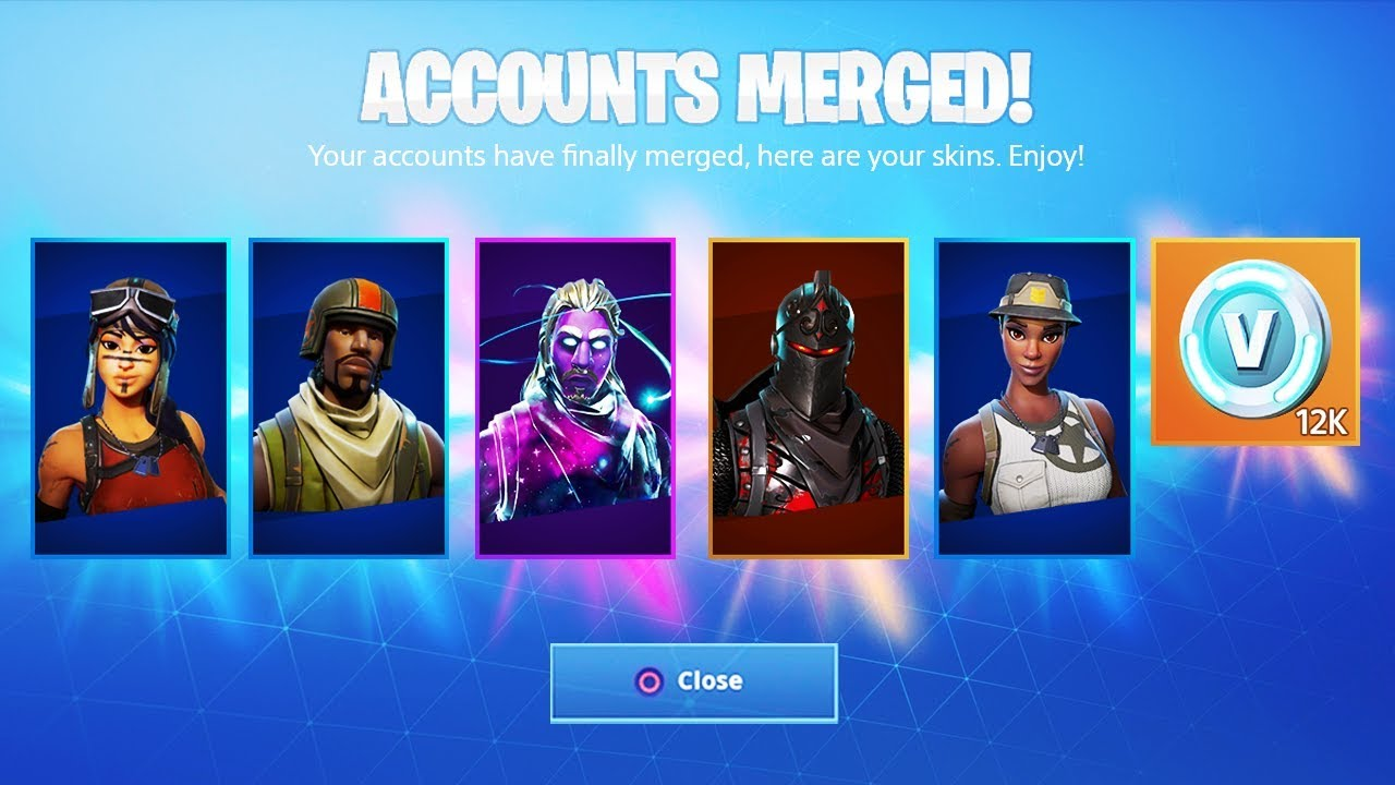 FINALLY Account Merging in Fortnite... - YouTube