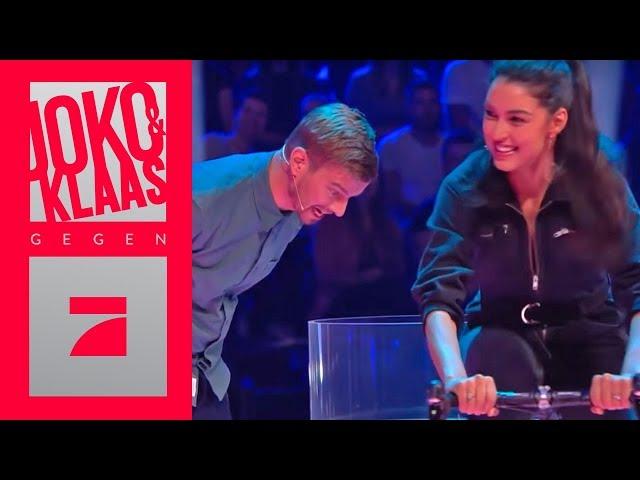 Rebecca Mir Christian Duren Treten In Die Pedale Spiel1 Joko Klaas Gegen Prosieben Youtube