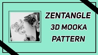 Easy Zentangle  3D Mooka Pattern Pt 4