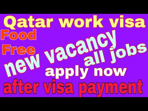 #JOBOFTHEDAY #Qatar || work visa || new vacancy || apply now || all jobs