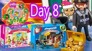 Polly Pocket, Playmobil Holiday Christmas Advent Calendar Day 8 Toy Surprise Opening Video