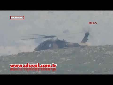 ATAK helikopteri düşürüldü! Bölgeden ilk görüntüler