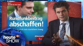 Lutz van der Horst will kein Gesicht für AfD-Werbung sein - heute-show vom 25.11.2016 | ZDF