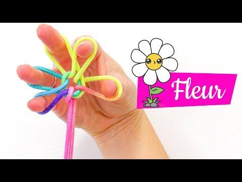 Fleur Pâquerette - Jeu De Ficelle - Figure Français - Facile