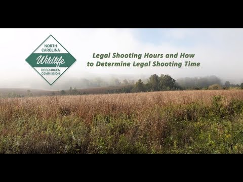 How To Determine Legal Shooting Times In North Carolina