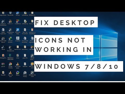 Fix Desktop Icons Not Clickable/ Not Working In Windows 7/8/10