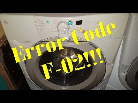 Fixing a F-02 error on a Whirlpool Duet Front Loader Washer