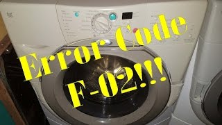 fixing a f 02 error on a whirlpool duet front loader washer