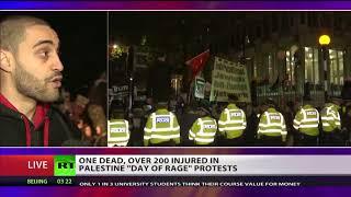 Hundreds gather outside London's US embassy in 'Hands off Jerusalem' protest