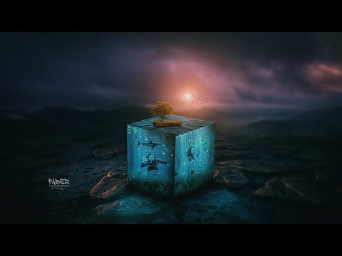 Photoshop Tutorial - How To Create 3D Water Cube Effects