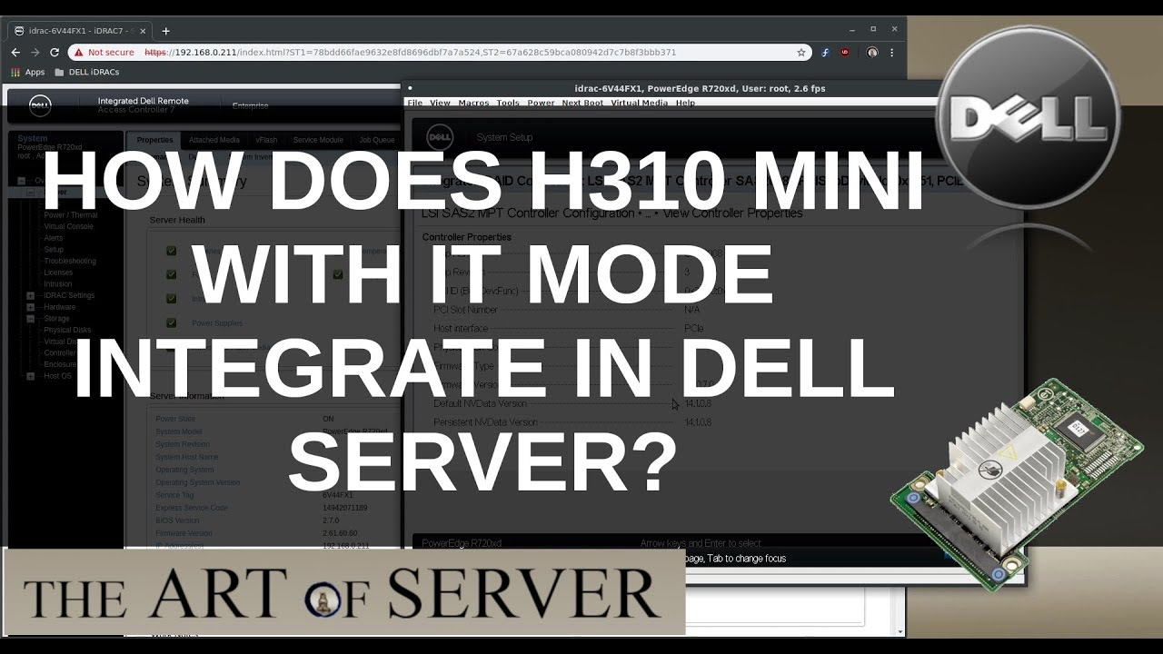 How does H310 mini with IT mode firmware integrate with Dell