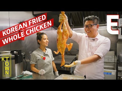 Korean Fried and Stuffed Chicken Served Whole – K-Town