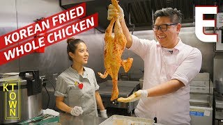 Korean Fried Chicken Stuffed and Served Whole – K-Town