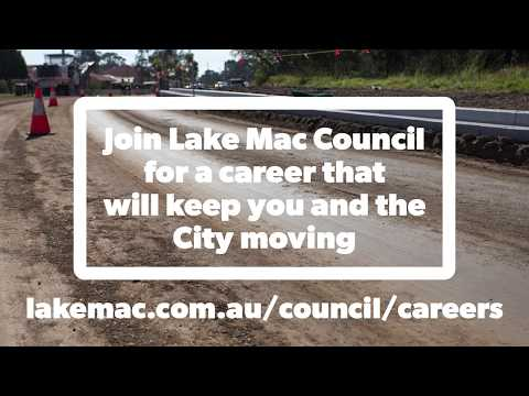 Lake Macquarie City Council Engineer Designer recruitment video