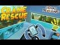 CAMPING TRIP DISASTER! Hover Crane Build! - Scrap Mechanic Multiplayer Gameplay
