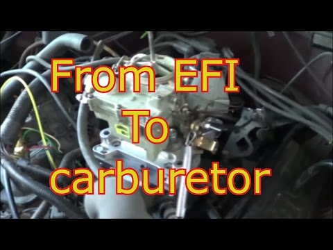 changing from fuel injection to carburetor, chevy truck 43 engine  YouTube
