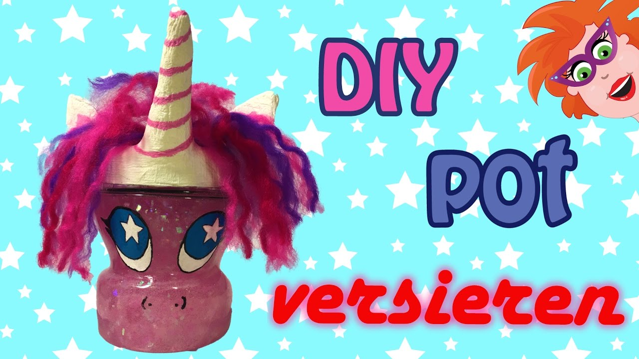 Favoriete Eenhoorn pot knutselen van papier-mache - YouTube @FM31