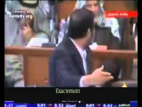 Jugement du lion Saddam Hussein