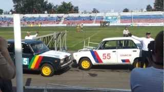 Автомобильно-спортивное шоу в Омске. Трюк -