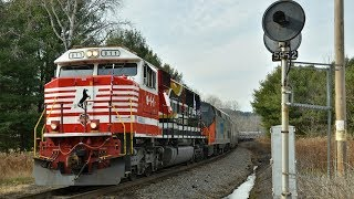 [HD] NS 911 leads the 2017 Toys for Tots Train on the NS D&H
