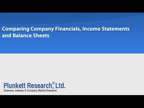 Comparing Company Financials, Income Statements and Balance Sheets - PRO Tutorial