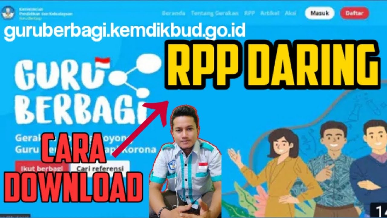 Cara Mudah Download Rpp Daring Tutorial Lengkap Gratis Download Rpp Daring Dan Luring 2020 Youtube