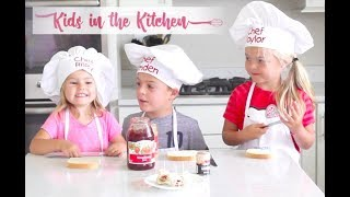 How to Make Peanut Butter and Jam Bites - Kids in the Kitchen