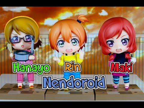 Love Live! Nendoroid Hanayo, Rin, And Maki Training Outfit Ver. Unboxing And Review