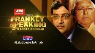 Frankly Speaking With Lalu Prasad - Full Interview [2014]