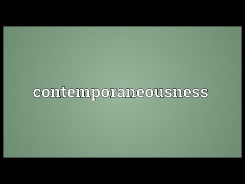 Header of contemporaneousness