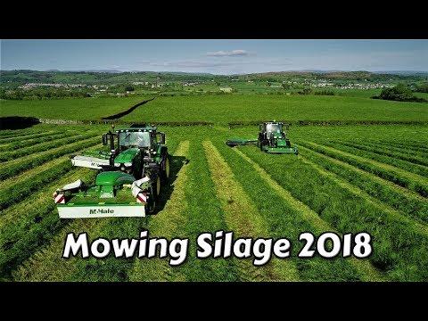 John Deere`s Mowing Silage 2018