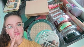 50% Of My Highlighters & Blushes GONE! Decluttering! FionaFrills Vlogs