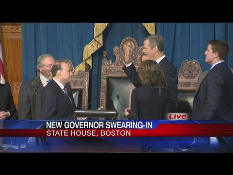 Charlie Baker sworn-in as Governor of Massachusetts