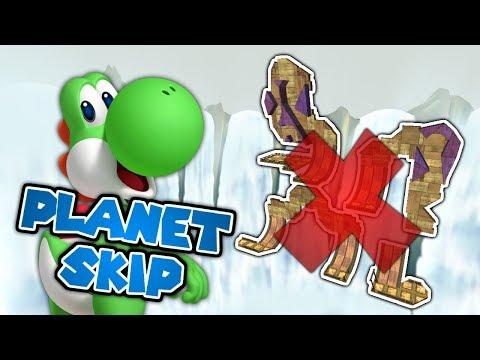 Planet SKIPPING in Hightail Falls Speed Run! (Super Mario Galaxy 2 Challenge)