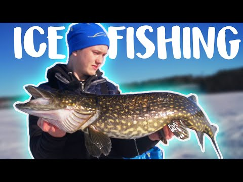 ICE FISHING FOR PIKE - Fishing In The Middle Of Sweden