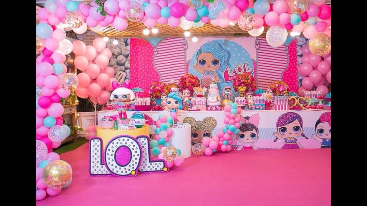 15 Best Lol Surprise Birthday Party Decorations Of 2018 Fiesta Infantile Lol Youtube
