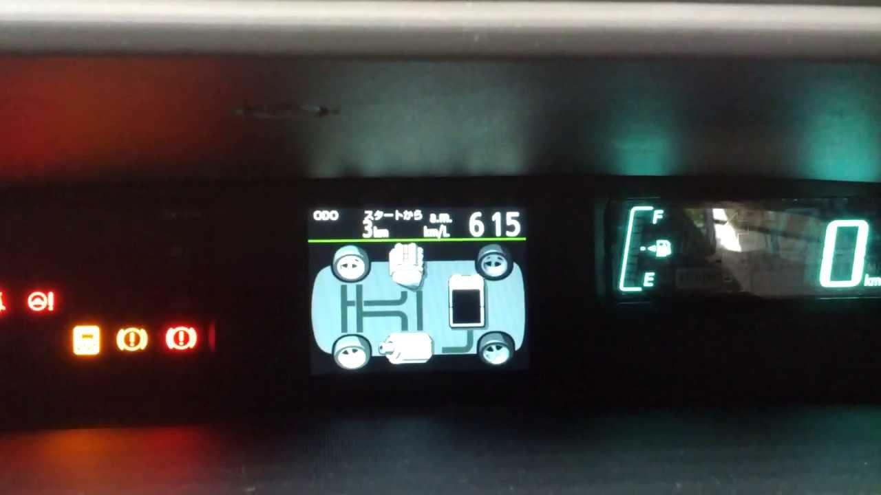 TOYOTA AQUA Prius C INTERIOR meter at トヨタ会館 2013.5.25 ...