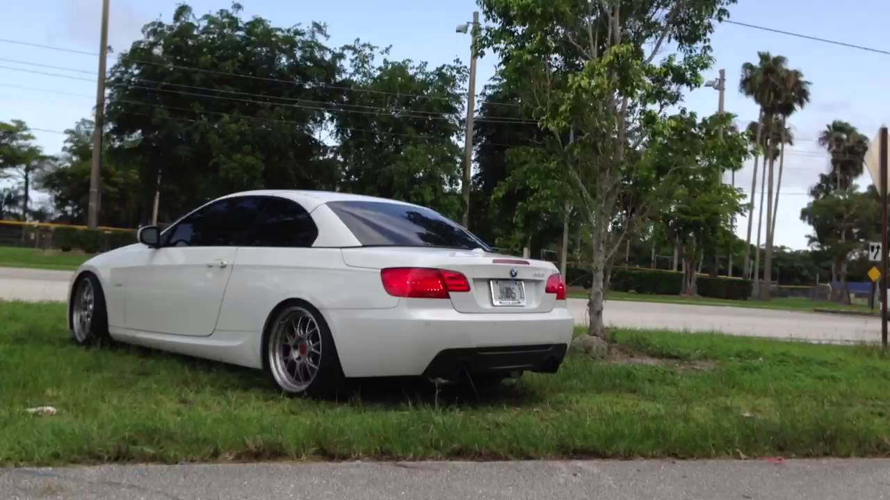 BMW 335I Convertible >> Bmw 335i convertible single turbo +BBS+ Brembo - YouTube