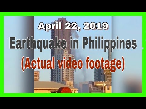 Earthquake in Philippines 6.1 Magnitude April 22, 2019 | Actual video footage