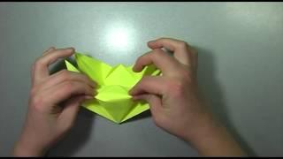 Оригами цветы  Оригами цветы из бумаги видео схема.Лилия  из бумаги.